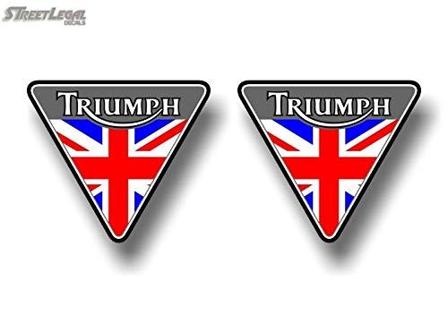 """triumph vinyl sticker 5/""""wide  also in black"""